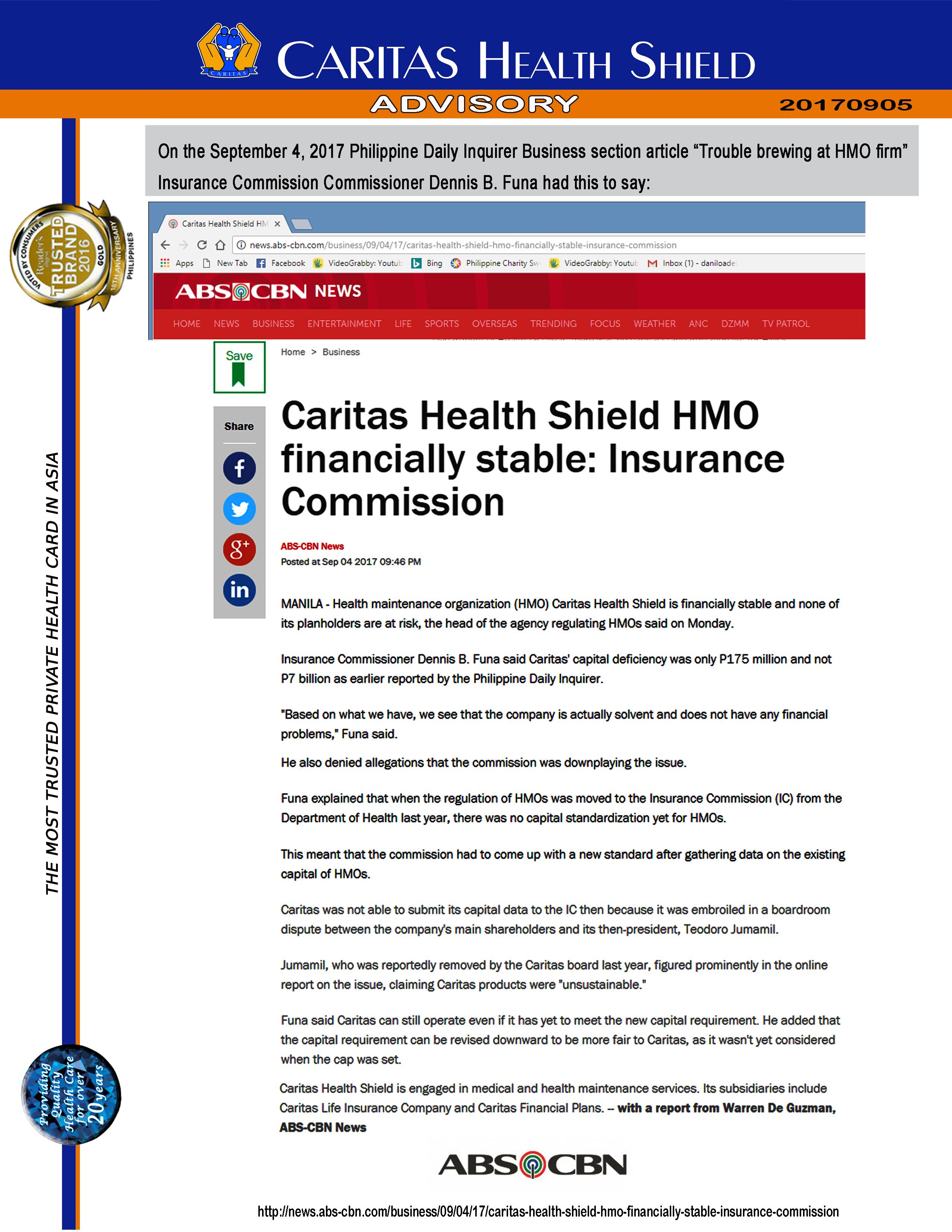 Caritas Health Shield